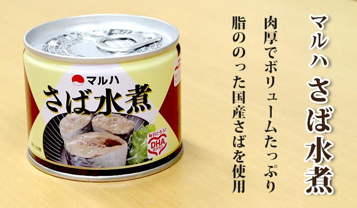 マルハさば水煮缶詰